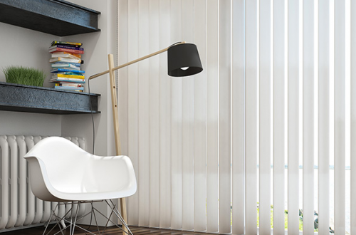 Fabric-PVC Vertical Blinds